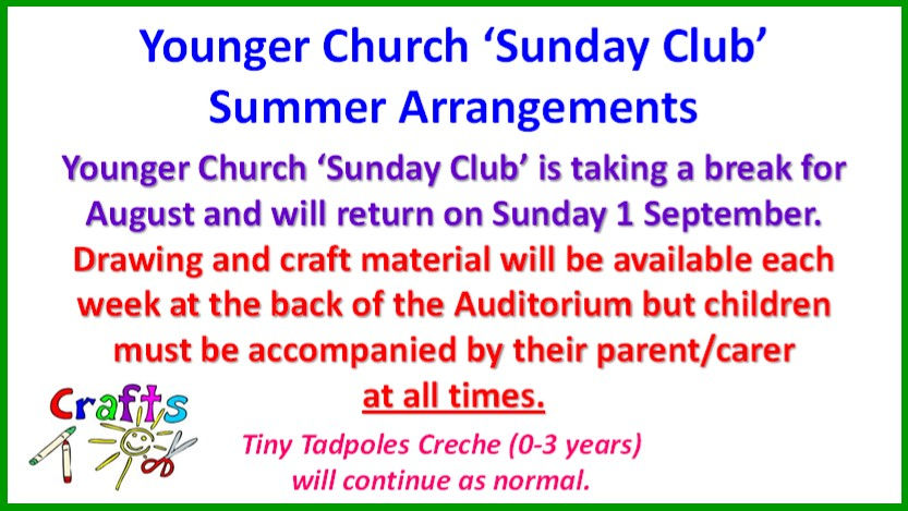 Younger Church Sunday Club Sum